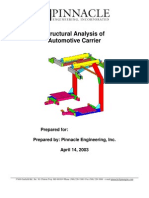FEA Finite Element Analysis Sample OH Carrier