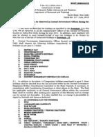 Govt Holiday List 11