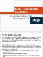 GÉNEROS DEL PERIODISMO CULTURAL - CLASE PRACTICA