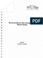 BO Web Intelligence XI Report Design QA210 Learner's Guide