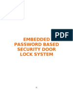 Ece Mini Project on Embedded Password Based Security Door Lock System