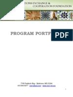 Program Portfolio 2011-2012