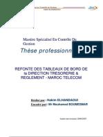 Refonte Des Tableaux de Bord de La Direction Tresorerie Et Reglement - Maroc Telecom