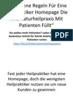 Heilpraktiker Homepage 6 Goldene Regeln
