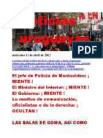Noticias Uruguayas miércoles 11 de abril de 2012