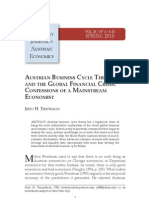 Austrian Economics and the Global Financial Crisis