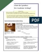 Tips for Creative Academic Writing (1)