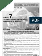 s Petrobras Analista Sistemas Junior Processos de Negocio Prova