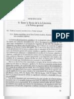 García Berrio. Sobre el estatuto científico de la Teoría de la Literatura