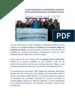 CON ACTIVIDADES EN SERVICIOS PUBLICOS, UNIVERSIDADES Y PLAZAS DE VALPARAÍSO SE REIMPULSA CAMPAÑA SOLIDARIA CON REGIÓN DE AYSEN.