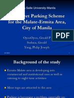 Dlsu Parking Scheme in Malate-ermita Area