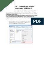 Permisos a Archivos y Carpetas en Windows 7