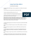 Highlights of Foreign Trade Policy 2009-2014