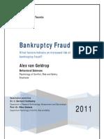 AJ Van Geldrop Faillissementsfraude