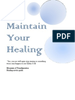 Maintain Your Healing