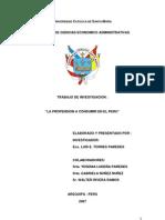 La Propension a Consumir en El Peru