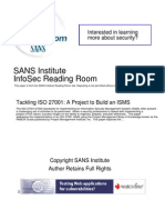 PMI y ISMS Tackling Iso 27001 Project Build Isms_33169[1]