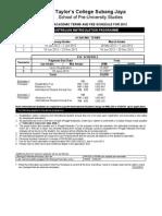 TCSJ Fee Schedule in USD 2012