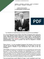 Linus Pauling La Derniere Interview