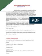Numeros naturais e operações fundamentais
