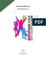 School_Maatschappelijke Stage Boekje Leerlingen