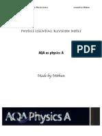 Mithun's Physics Revision Notes (Unit 1)