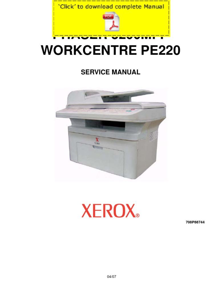 PHASER TÉLÉCHARGER 3200MFP XEROX