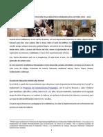 Informe de Avance y Proyección Mariamulata 2010 - 2011