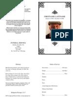 Custom Free Printable Funeral Programs