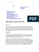 DIV Based Layout With CSS