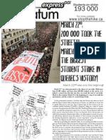 Quebec 2012 student strike - flyer
