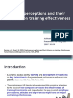 Employee Perceptions and Their Influence on Training Effectiveness