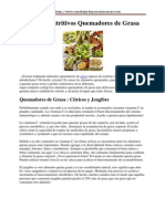Alimentos Nutritivos Quemadores de Grasa