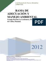 Programa de Adecuación y Manejo Ambiental en una Finca Porcina de Panama.