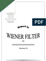 Wiener Filter