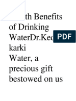 Health Benefits of Drinking WaterDr