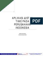 Makalah Aplikasi Jit Pada Perusahaan d Indonesia