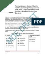 Kindergarden ELA CC and GLCE Alignment 3 12