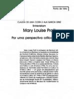 Entrevista Mary Louise Pratt