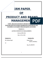 42302871 Brand Extension and Opportunities of Ponds