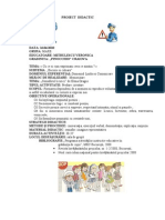 Proiect Didactic Semaforul