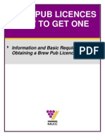 Brew Pub Licence Brochure Final