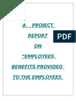 Employee Benifit Prjct Ntpc