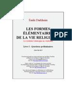 Durkheim - Les Formes Elementaires