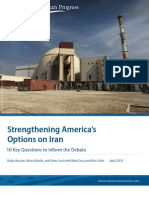Strengthening America's Options on Iran
