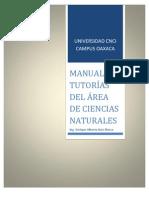 Manual de Turorias de CNCI en Ciencias Naturales ING ENRIQUE