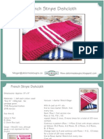 French Stripe Dishcloth