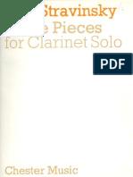 Stravinsky, Igor - Three Pieces for Clarinet Solo