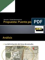 Propuesta de Puente Peatonal