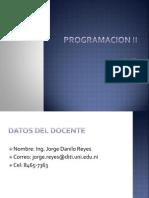 Programacion II - Sesión I